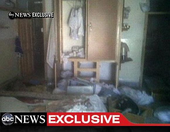 A video frame grab, obtained from ABC News, shows the interior in the mansion where Osama Bin Laden was killed.