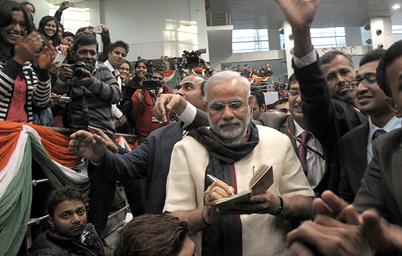 Narendra Modi believes the youth will take him to Delhi.