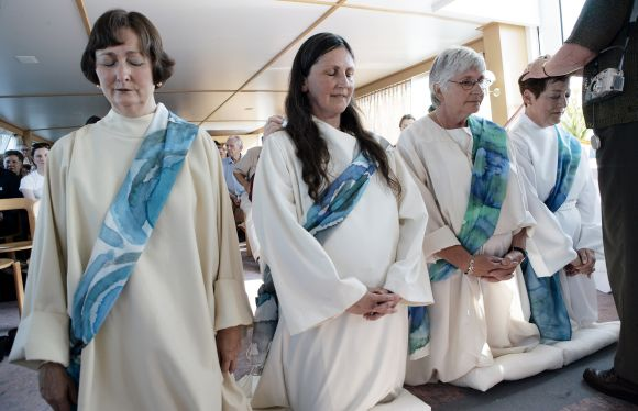 A ceremony to ordain priesthood to women in Switzerland, which is banned in Roman Catholic traditions