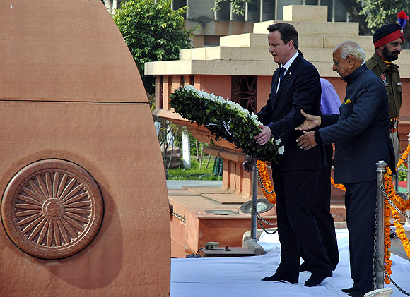 British Prime Minister  David Cameron at Jallianwala Bagh