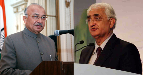 Shinde would like to head the external affairs ministry, but Salman Khurshid is in no mood to oblige.