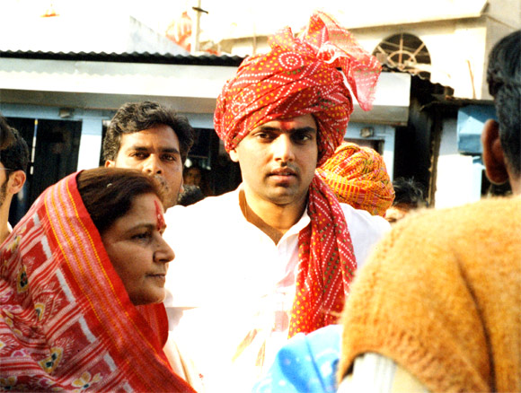 Sachin Pilot is following in his late father's footsteps.
