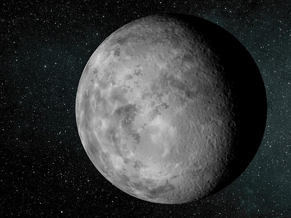 The artist's concept depicts the new planet dubbed Kepler-37b. The planet is slightly larger than our moon, measuring about one-third the size of earth