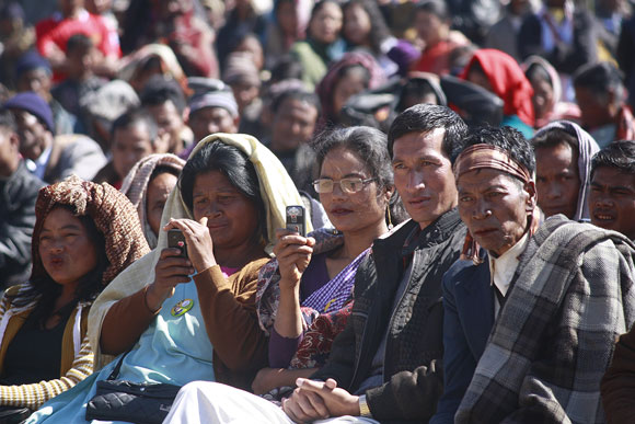 An election meeting in Mawkyrwat, West Khasi Hills.