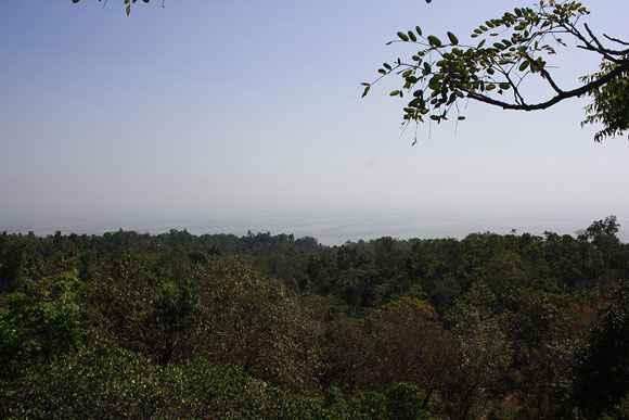 View of the Bangladesh border from Mawlynnong in the East Khasi Hills.
