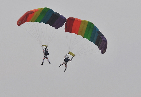 Paratroopers in formation of Akashganga