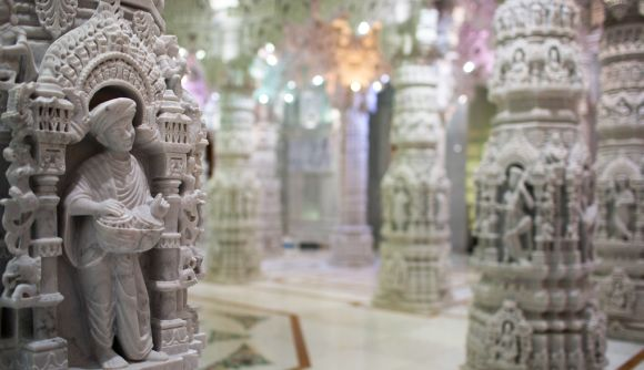 Inside Hollywood's GRAND Swaminarayan temple