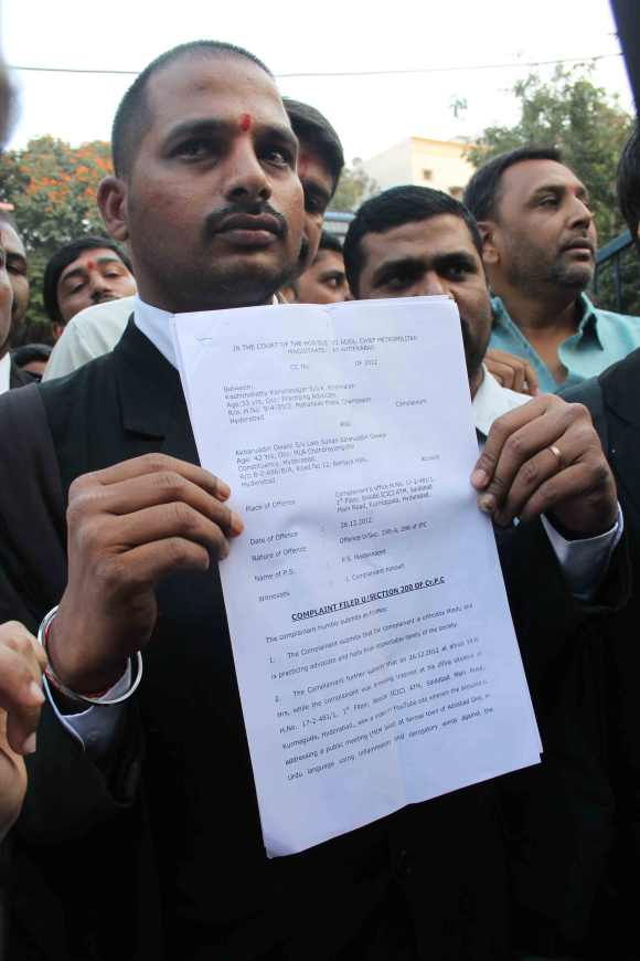 Lawyer Kashimshetty Karuna Sagar, who filed a petition against Owaisi for his hate speech