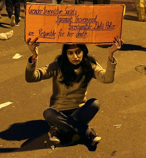 A protest against increasing sexual crimes in India