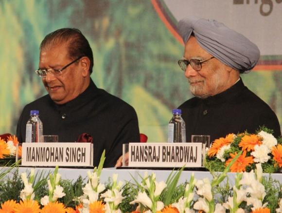 Dr Singh with Mauritius President Rajkeswur Purryag