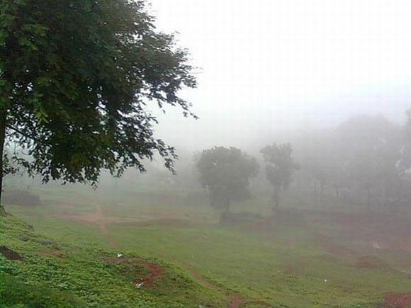 A foggy day in winters at Pachmarhi in Madhya Pradesh
