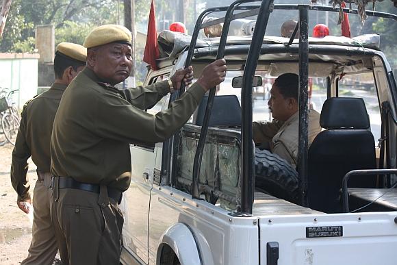 An Assam police patrol