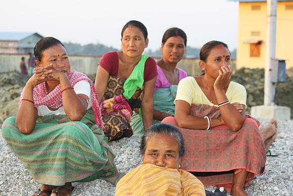 A group of displaced Bodo women
