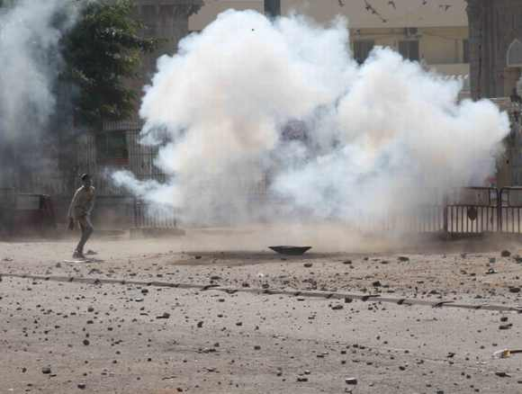 Police fire teargas shells to disperse supporters