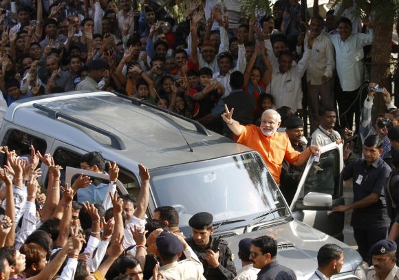 Modi's marketing is solid, a great deal of money has been spent, says Ahmed Patel.