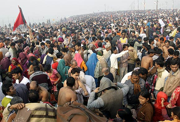 Millions gather at the Kumbh Mela
