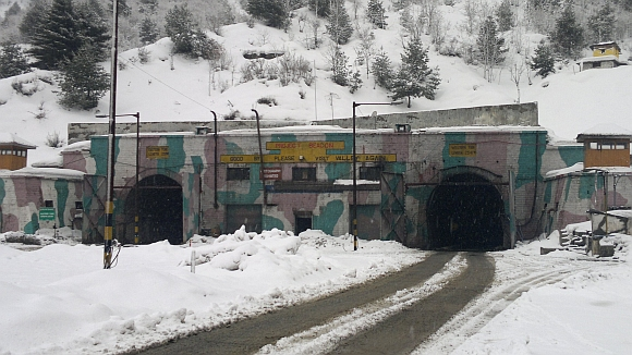 A view of the Jawahar Tunnel