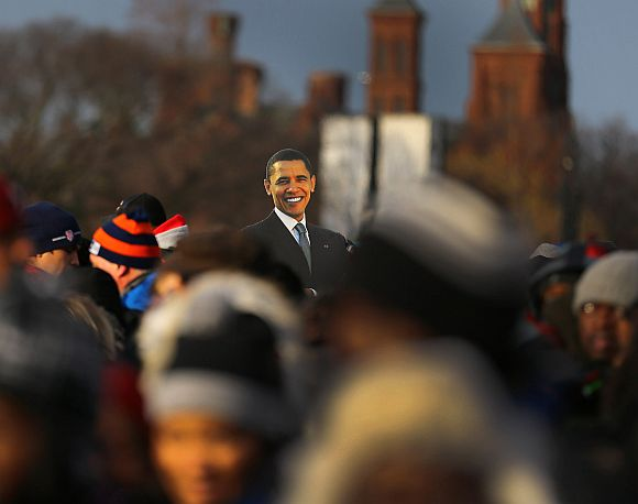 Barack Obama takes oath for second term
