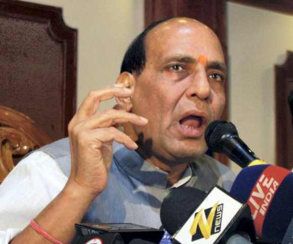 Bharatiya Janata Party president Rajnath Singh
