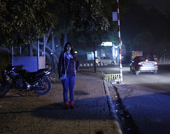 Ishita Matharu, 23, who works for a multinational company, poses for a picture