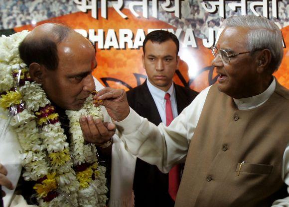 Rajnath Singh with former Prime Minister Atal Bihari Vajpayee