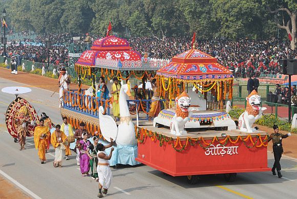 The tableau of Odisha on the theme 'Chandan Yatra of Lord Jagannath'