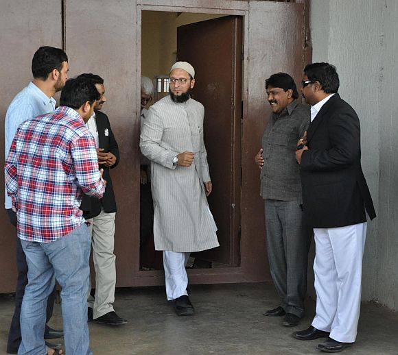 Asaduddin Owaisi coming out of jail