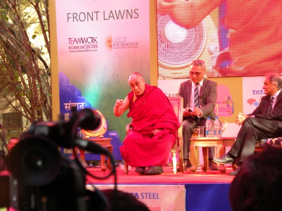 The Dalai Lama at the Jaipur Literature Festival