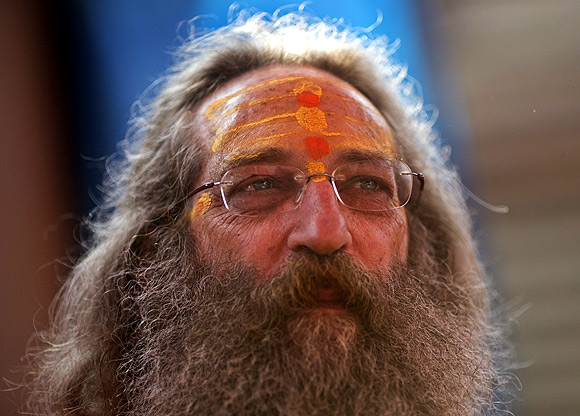 Baba Rampuri is a sadhu from the United States.