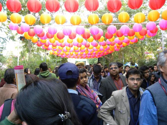 Crowds had pretty much doubled by day 2 at the Jaipur Lit Fest