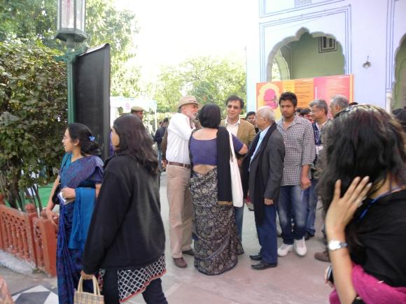 Tarun Tejpal with Gurcharan Das