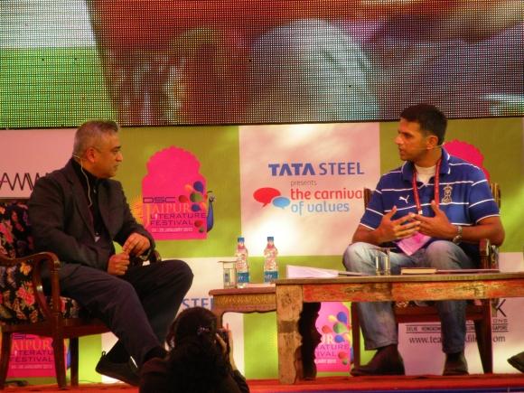 Rajdeep Sardesai with Rahul Dravid