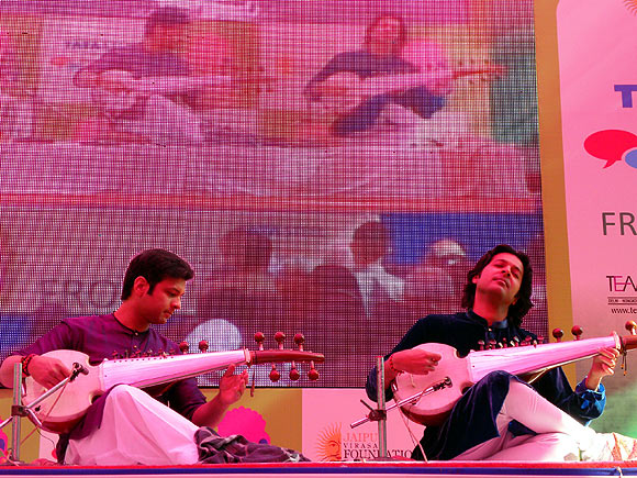 Amaan and Ayaan Ali Khan at Jaipur Lit Fest