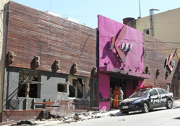 The Boate Kiss nightclub after the devastating fire
