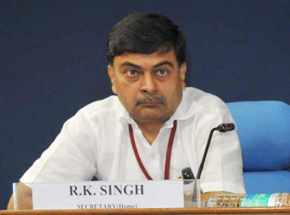 Union Home Secretary R K Singh