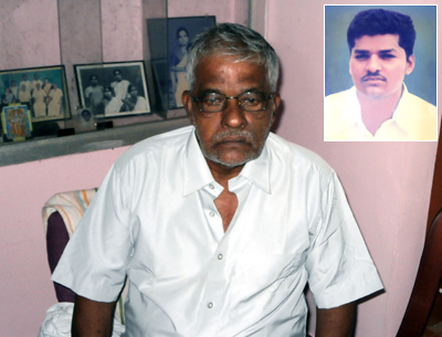 Gopinatha Pillai and (inset) his son Javed Ghulam Sheikh