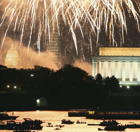 Fireworks, parades and protests mark US Independence Day