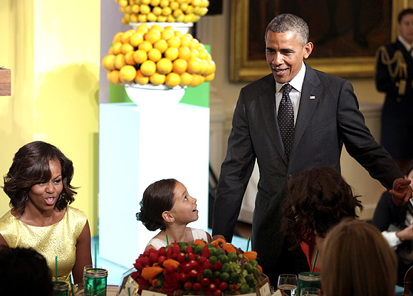 The Obamas play hosts at the second annual 'kids' state dinner
