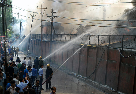 Major fire destroys part of JK secretariat