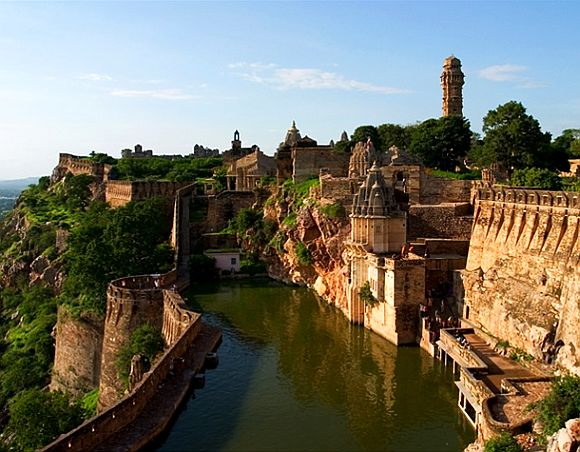 The Chittorgarh fort in Rajasthan
