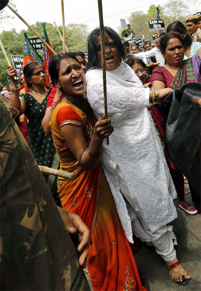 A protest against the gang rape in Delhi