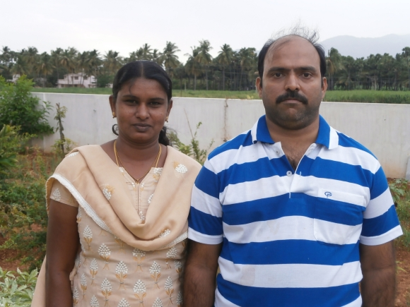 The judge's son Senthil with wife Poorani
