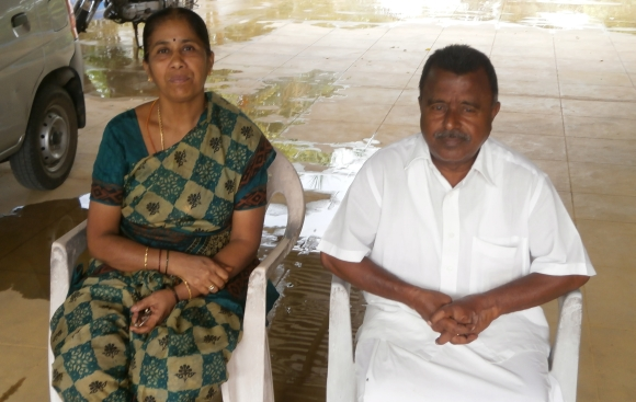 Justice P Sathasivam's younger brother Veluswamy with his wife Maragatham