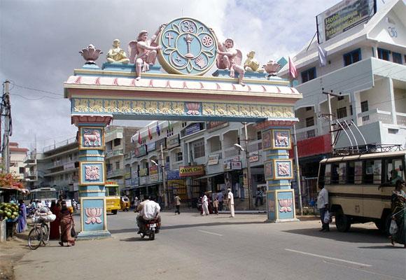 The entrance to Puttaparthi