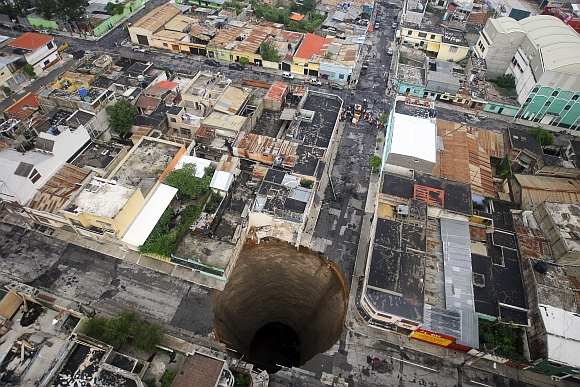 Ever seen such giant sinkholes?