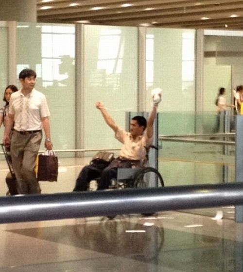 Disabled man triggers blast at Beijing airport