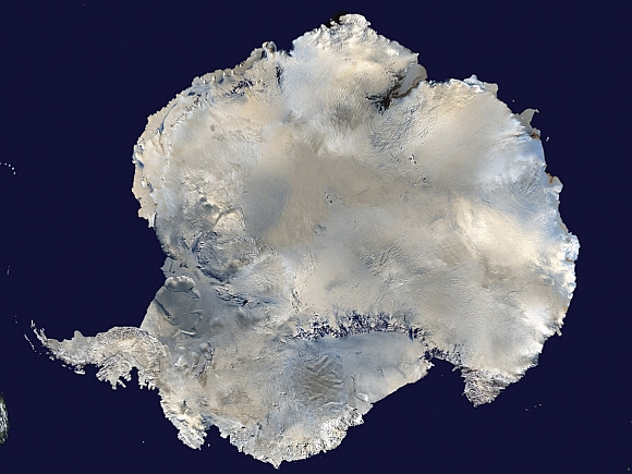 A satellite view of Antarctica is seen in this undated NASA handout photo obtained by Reuters
