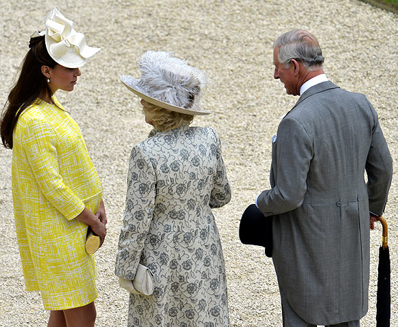 Duchess of Cambridge with Camilla, Duchess of Cornwall and Prince Charles