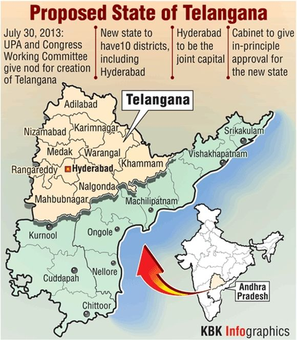 Two districts of Rayalaseema vital to Cong's Telangana plan