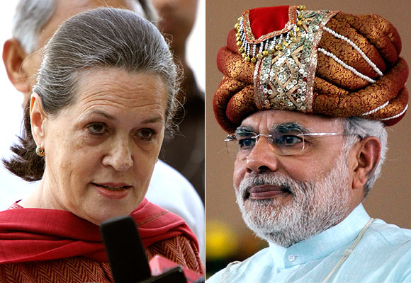 Sonia Gandhi is worried that the Congress may lose its allies to Narendra Modi.